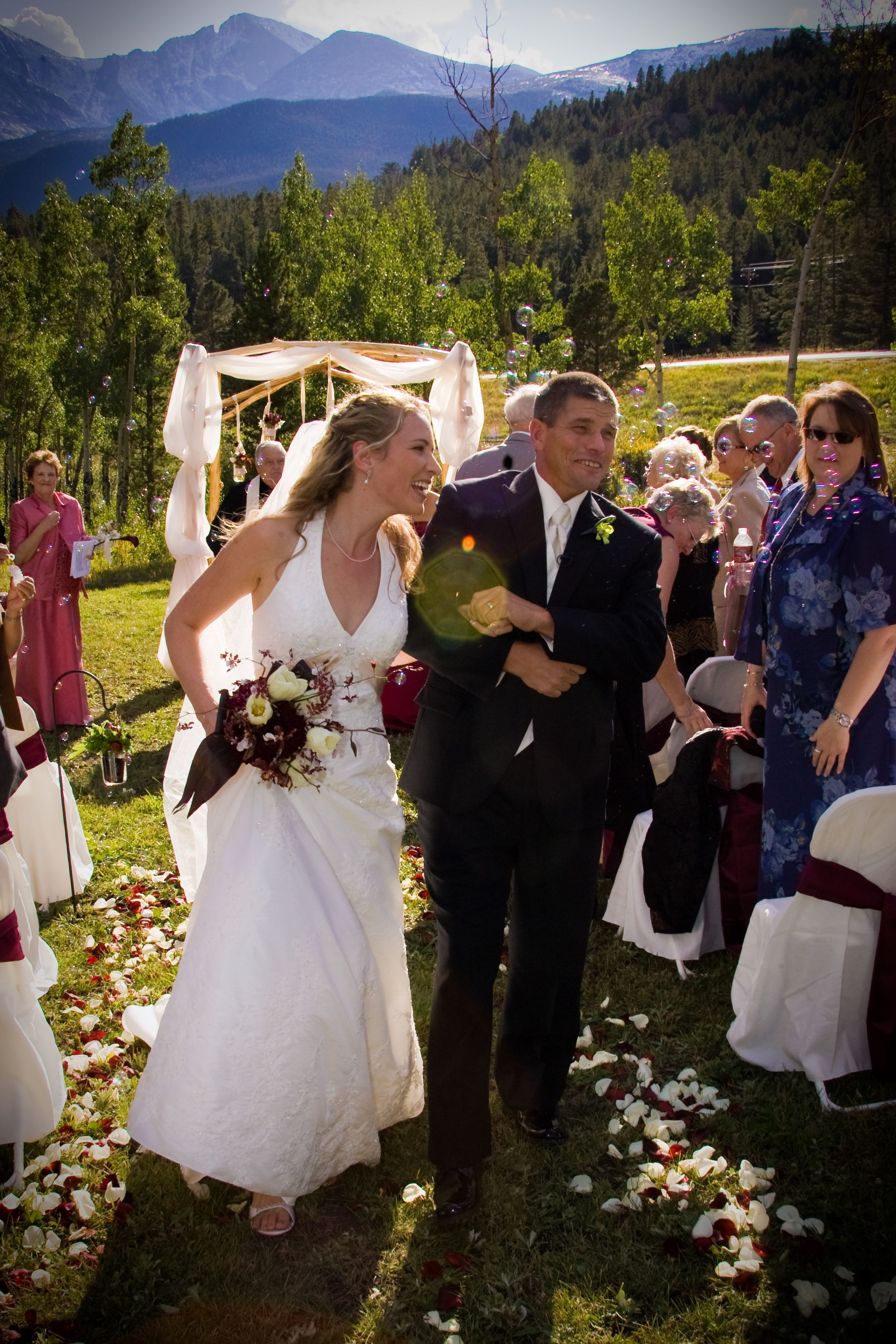 Ceremony, Flowers & Decor, Fall, Wedding, Park, Mountain, Estes, Custom weddings of colorado