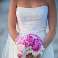 Flowers & Decor, pink, Beach, Flowers, Beach Wedding Flowers & Decor, bridal bouquet, Peony, Ranunculus, Budget designer florals
