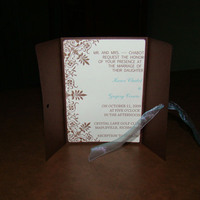 Stationery, blue, brown, invitation, Invitations, Chocolate, Teal, Ribbon, Aqua, Cardstock, Divine designs llc, Brown cardstock, Brown and aqua invitation