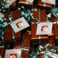 Favors & Gifts, blue, brown, Favors, Gift, Teal, Ribbon, Tag