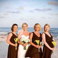 Bridesmaids, Bridesmaids Dresses, Beach Wedding Dresses, Fashion, yellow, brown, Beach