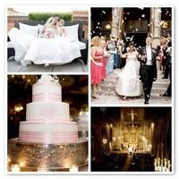 Cakes, cake, Monogrammed Wedding Cakes, Monogram, Rose, Petals, Petal, Cones