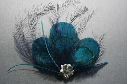 Beauty, Hair, Teal, Fascinator