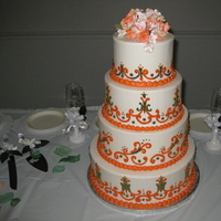 Cakes, orange, green, cake, Fall, Round, Buttercream, Indian, ltd, Simply cakes