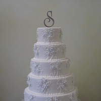 Flowers & Decor, Cakes, cake, Monogrammed Wedding Cakes, Round, Flowers, Monogram, Fondant, Buttercream, ltd, Sugar, Simply cakes