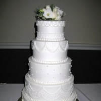 Flowers & Decor, Cakes, white, ivory, cake, Round, Flowers, Lace, Buttercream, Pearls, Piping, ltd, Simply cakes
