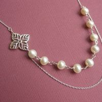 Jewelry, white, silver, Necklaces, Gift, Bridesmaid, Bridal, Necklace, Pearl, Sterling, Otis b jewelry