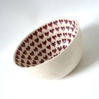 Romantic, Gift, Bowl, Ceramic, Pottery, Prince design uk
