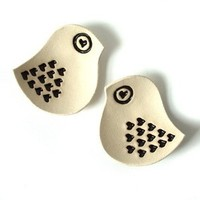 Favors & Gifts, white, black, favor, Wedding, Ring, Bearer, Cream, Decorations, Bowl, Hearts, Lovebirds, Prince design uk