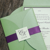 Stationery, green, invitation, Invitations, Monogram, Wedding, Apple, Mint, Plum, Concepts ii completion
