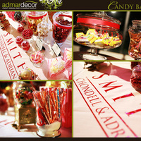 Reception, Flowers & Decor, Favors & Gifts, Favors, Food, Wedding, Candy, Buffet, Guest, Bar, Sweets, Treats, Admardecor event design planning group