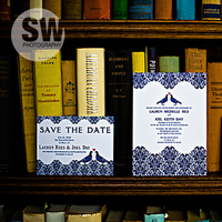 Stationery, blue, Invitations, Carter and cook event co