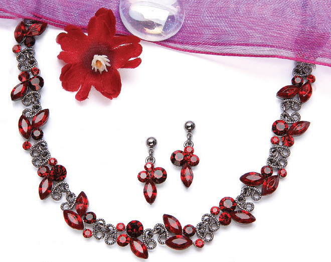 Jewelry, red, Necklaces, Bridal, Necklace, The wedding train