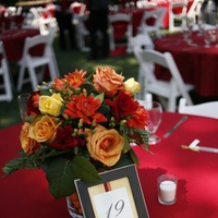 DIY, Flowers & Decor, yellow, orange, red, Centerpieces, Table Numbers, Flowers, Centerpiece, Table, Numbers