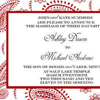 Stationery, red, Invitations, Wedding, Moments of love stationery
