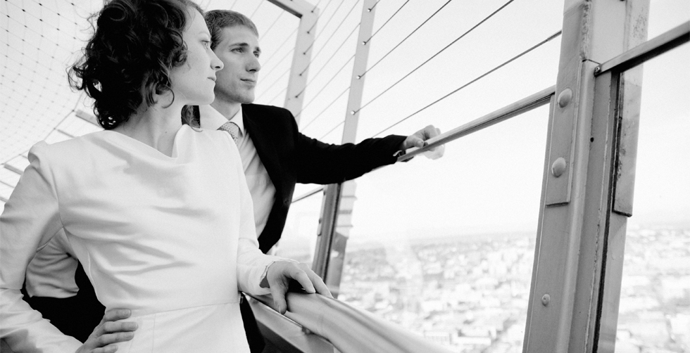 Bride, Groom, Seattle, Ariel nay nebeker photography, Space, Needle