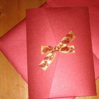 Stationery, orange, red, invitation, Invitations, Pocketfold