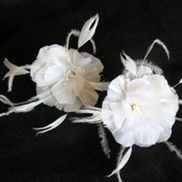 Beauty, Flowers & Decor, Feathers, Flower, Wedding, Bridal, Couture, Accessory, Pin, Hairpiece, Handmade, Feather, Alice hart couture millinery