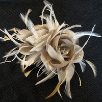 Beauty, Feathers, Comb, Roses, Wedding, Bridal, Couture, Silk, Millinery, Hairpiece, Handmade, Feather, Alice hart couture millinery