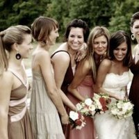 Bridesmaids, Bridesmaids Dresses, Fashion, ivory, pink, Champagne, Short, Dresses, Tan, Different, Short Wedding Dresses