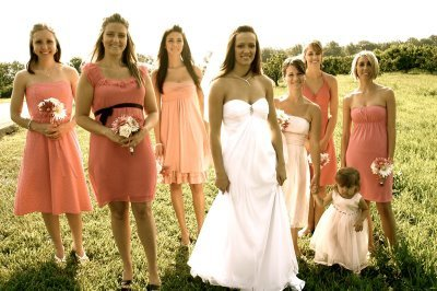 Bridesmaids, Bridesmaids Dresses, Fashion, pink, Dresses, Length, Different, Casual, Knee