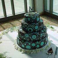 Cakes, blue, brown, cake, Jeseca creations