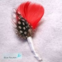 Beauty, Flowers & Decor, Feathers, Flower, Party, Unique, Boutonniere, Feather, Blue flourish, Interesting, Non-floral
