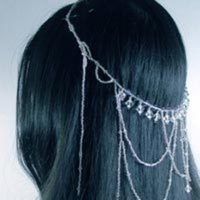 Beauty, Jewelry, Tiaras, Headbands, Bride, Hair, Bridal, Tiara, Elegant, Crystal, Swarovski, Accessory, Headband, Beaded, Circlet, Blue flourish