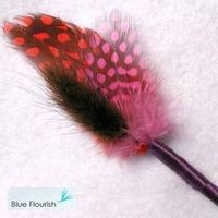 Beauty, Flowers & Decor, Feathers, Flower, Party, Unique, Boutonniere, Feather, Blue flourish, Interesting, Non-floral