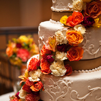 Flowers & Decor, Cakes, orange, red, cake, Fall, Flowers, Fall Wedding Flowers & Decor, Colors, Kd loftis photography