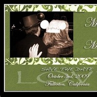 Stationery, green, Invitations, The, Design, Save, Date, Magnet, Laci morgan creations
