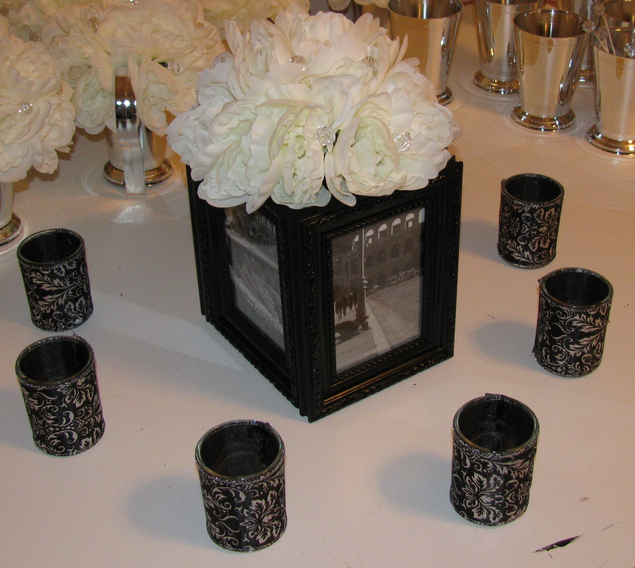 DIY, Reception, Flowers & Decor, Centerpieces, Centerpiece, Damask