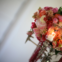 DIY, Flowers & Decor, pink, silver, Centerpieces, Vintage, Flowers, Vintage Wedding Flowers & Decor, Centerpiece, Candle, Floral, Design, Candelabra, Downey street events