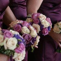 Ceremony, Flowers & Decor, Bridesmaids, Bridesmaids Dresses, Fashion, purple, Ceremony Flowers, Bridesmaid Bouquets, Flowers, Perfect planning events, Flower Wedding Dresses