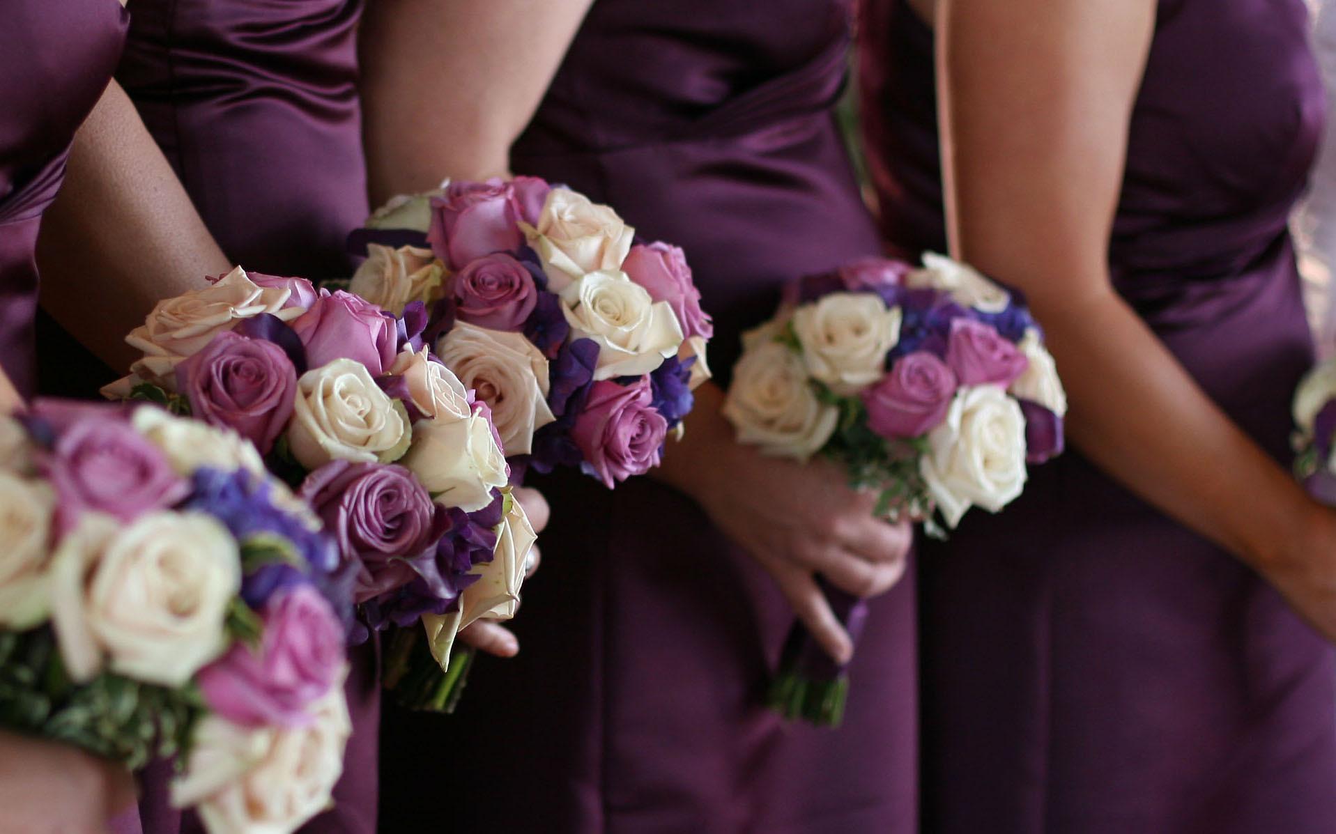 Ceremony, Flowers & Decor, Bridesmaids, Bridesmaids Dresses, Fashion, purple, Ceremony Flowers, Bridesmaid Bouquets, Flowers, Perfect planning events, Flower Wedding Dresses