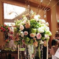Flowers & Decor, white, pink, green, Centerpieces, Flowers, Flower, Centerpiece, Branches, Mirror