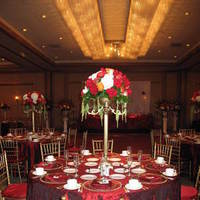 Flowers & Decor, orange, red, Centerpieces, Lighting, Flowers, Linen, Silk