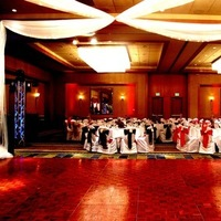 red, black, Dance, Chair, Chair covers, Floor, Lights, Dance floor, Swag, Twinkle