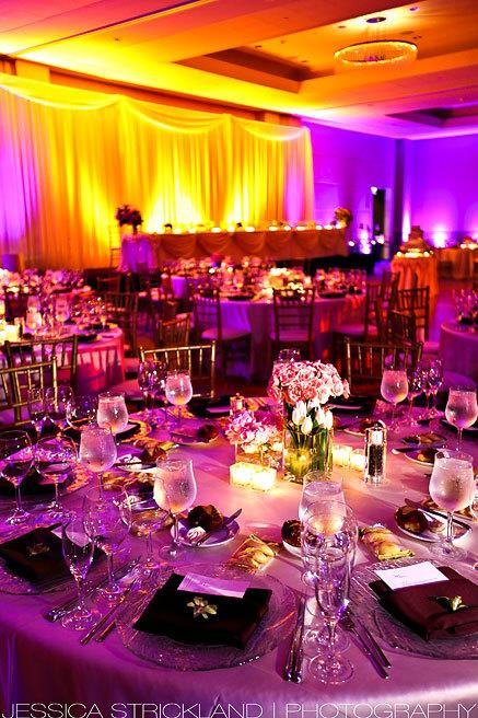 Reception, Flowers & Decor, purple, Lighting, Amber