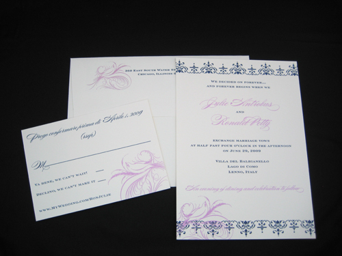 Stationery, purple, invitation, Modern, Modern Wedding Invitations, Invitations, Rsvp, Navy, Blush paperie