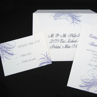Stationery, purple, gray, invitation, Modern, Modern Wedding Invitations, Invitations, Rsvp, Blush paperie