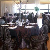 Centerpiece, Chair, Treatment, Linens, Covers, Ceiling, Watkins event decor