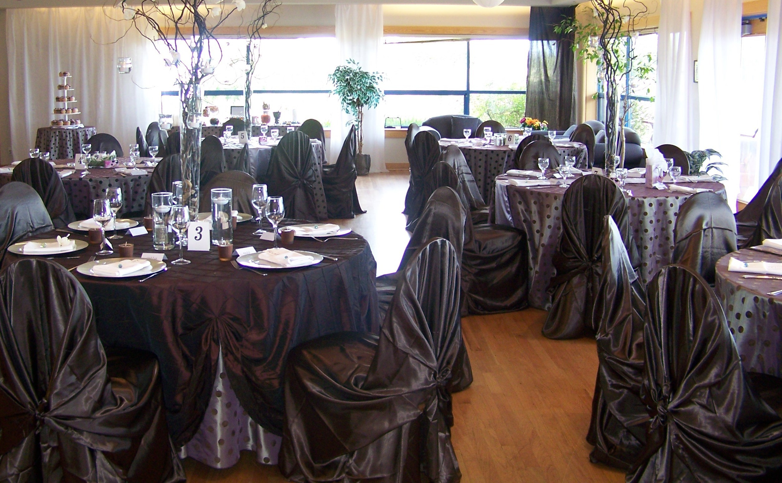 Centerpiece, Chair, Treatment, Linens, Covers, Ceiling, Watkins event decor