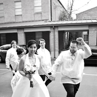 white, black, Bride, Groom, Party, Bridal, Kd loftis photography