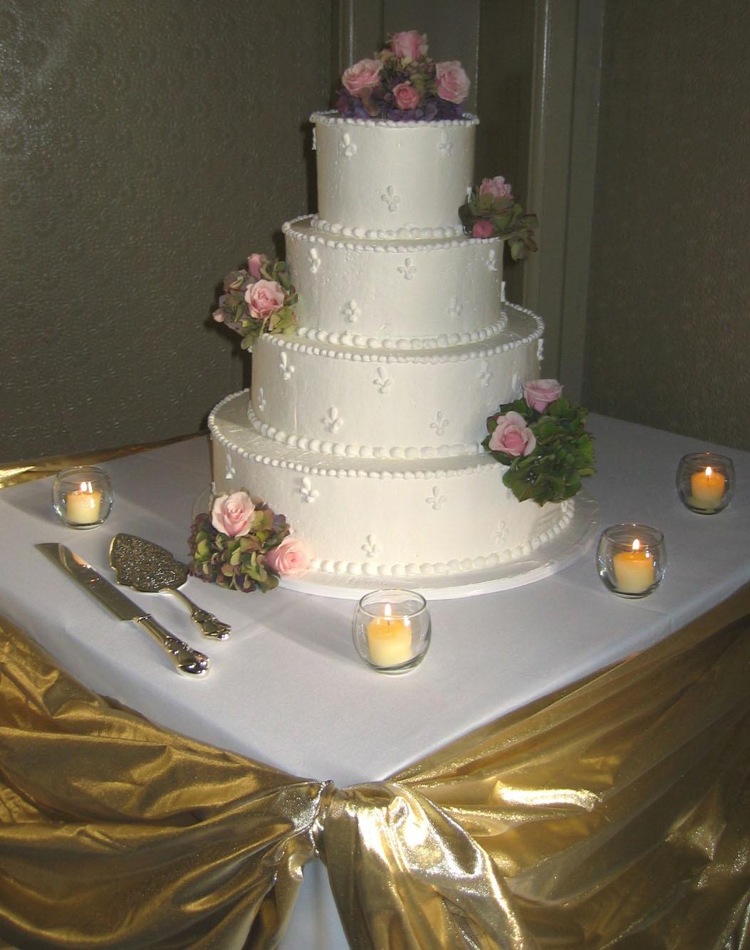 Cakes, pink, cake, Roses, Wedding cake, 4 tier cake