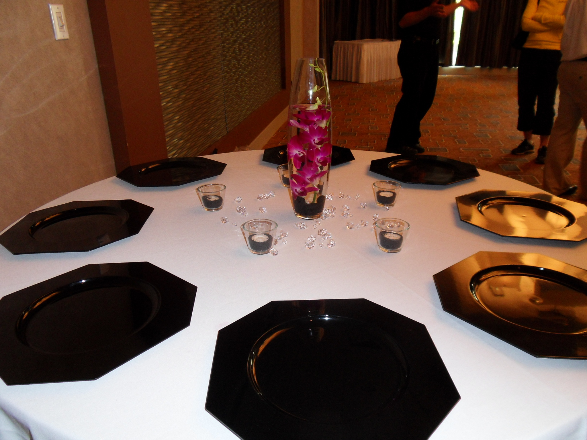 Registry, Place Settings, Centerpiece, Orchids, Plates, Charger