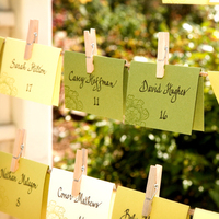 Reception, Flowers & Decor, Stationery, yellow, green, Place Cards, Placecards, Perfect planning events, Perfect planning