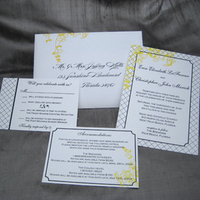 Stationery, yellow, black, invitation, Modern, Modern Wedding Invitations, Invitations, Blush paperie