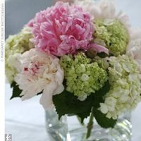 pink, green, Centerpiece