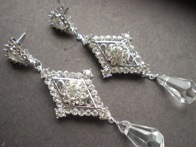Jewelry, Earrings, Vintage, Crystal, Swarovski, Designs, Old, Drop, Chandelier, Rhinestone, Pearl, Something, Antique, Deco, Dangle, Belle nouvelle designs, Nouvelle, Belle